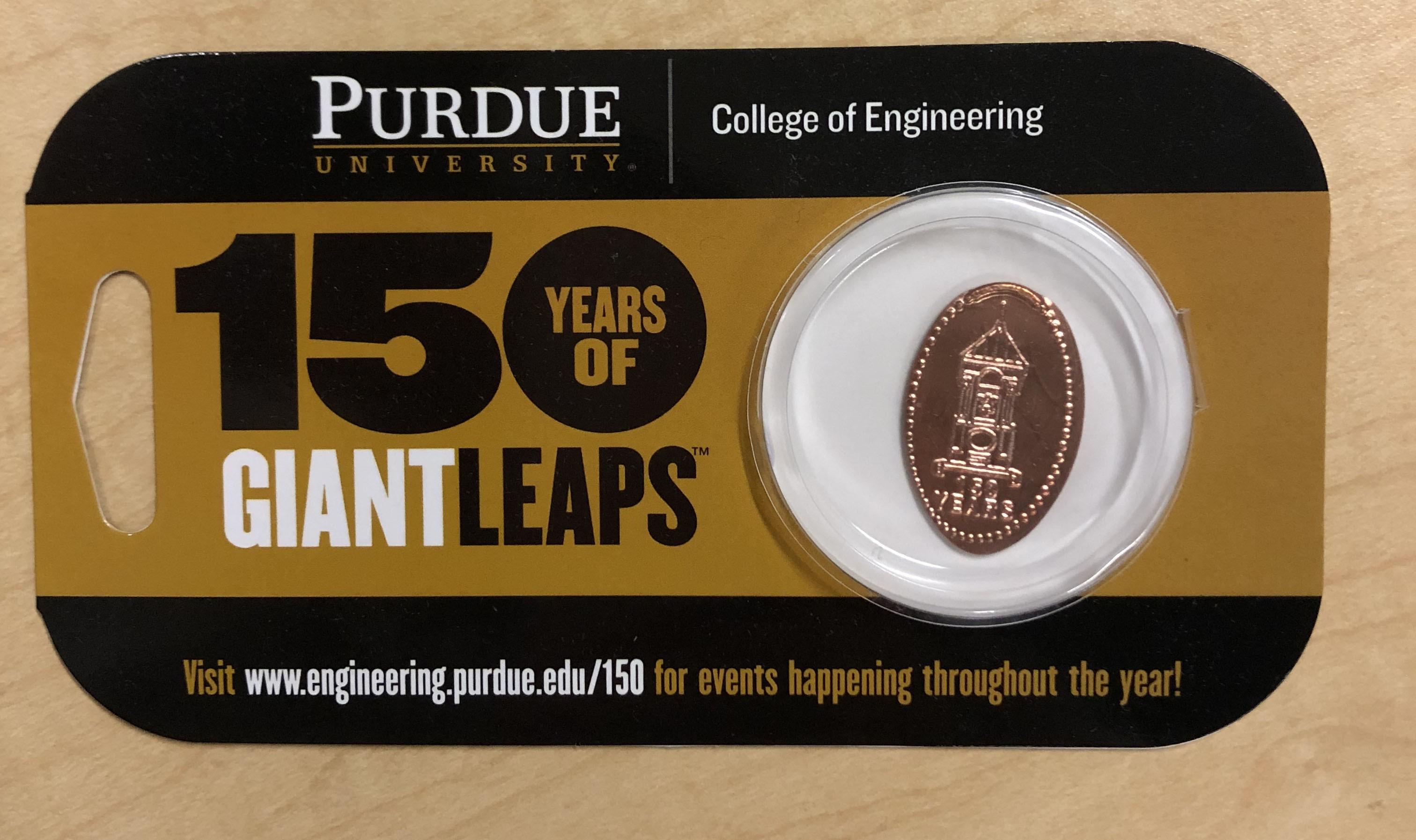 PU Engineering Penny Press Card